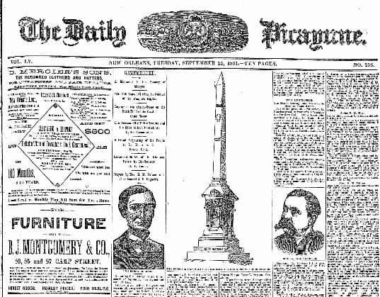 Daily Picayune from 1891
